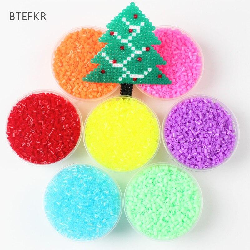 1000Pcs/Bag 2.6MM Hama Beads Puzzle Toys 72 Colors Kids Education DIY Perler Beads Toys 3D Puzzle Perler Beads Perles de Hama