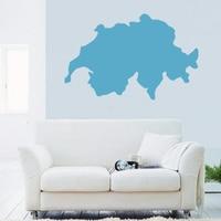Switzerland map Globe Earth Country wall vinyl sticker custom made home decoration fashion design