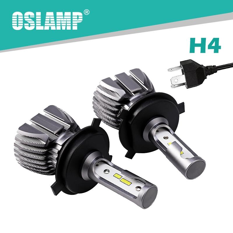Oslamp Automobile H4 Led Bulb 6500K White 50W Led H4 Headlight Kit All in One Hi