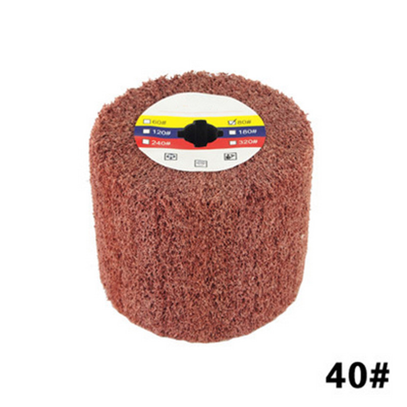 40 Mesh Polishing Wheel Abrasive Wire Grinding Tool Accessories For Metal Surface Drawing Polishing Derusting Displex