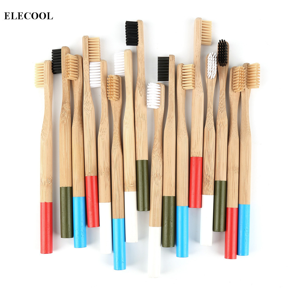 5pcs Brush Cover/ 1pc Bamboo Toothbrush Soft Head Eco Friendly Bamboo Handle Soft Bristle White Toothbrush Adults Toothbrush