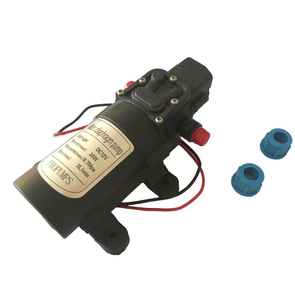 ФОТО 2pcs/ Lot Small Diaphragm pump 0142YB 12V 30W Micro Self-Priming pump Spray pump 0.7MPa 3L/ Min, Max Head 40M
