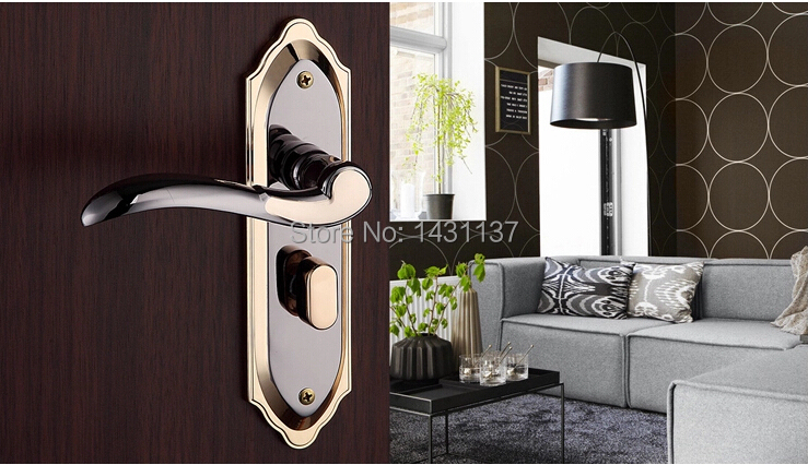 ФОТО Free shipping high quality  Door locks, brass lock Interior door, zinc alloy handle  Building Hardware