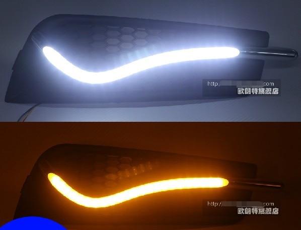Новый 2009-2013 Шевроле Круз светодиодные DRL фары дневного света с желтый включите свет функция высокое качество быстрая доставка