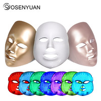 2018 newest PDT photon led facial mask 7 colors led light therapy skin rejuvenation wrinkle removal beauty machine facial mask