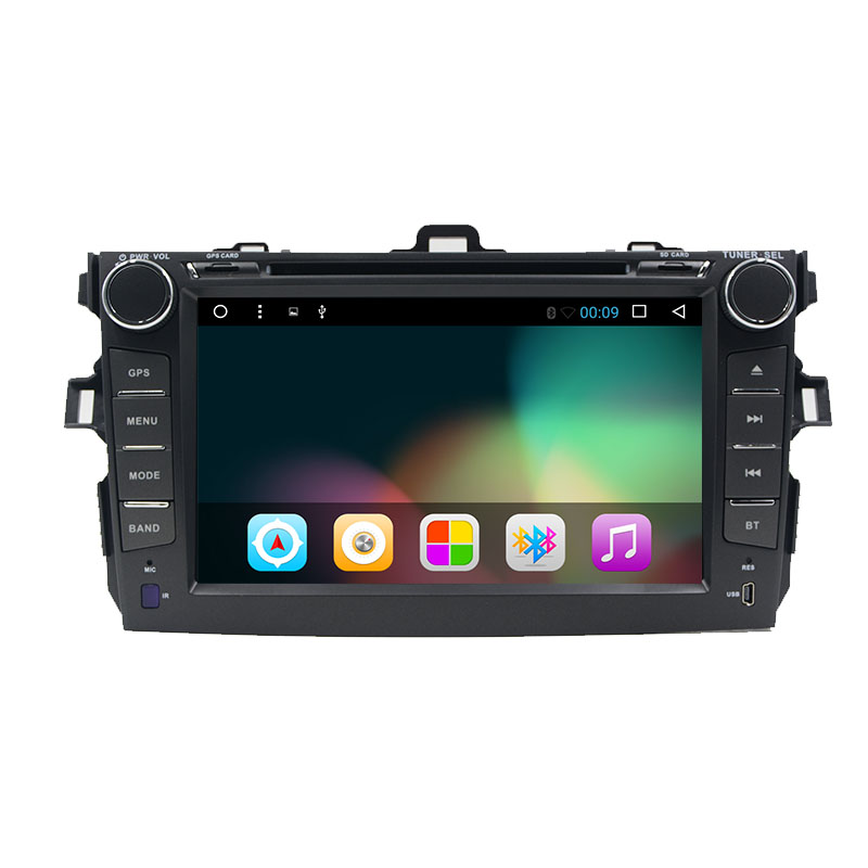8 inch Android 6.0 Quad Core 1024*600 for TOYOTA COROLLA 2007 2008 2009 2010 2011 2012 Car DVD Navigation GPS Radio