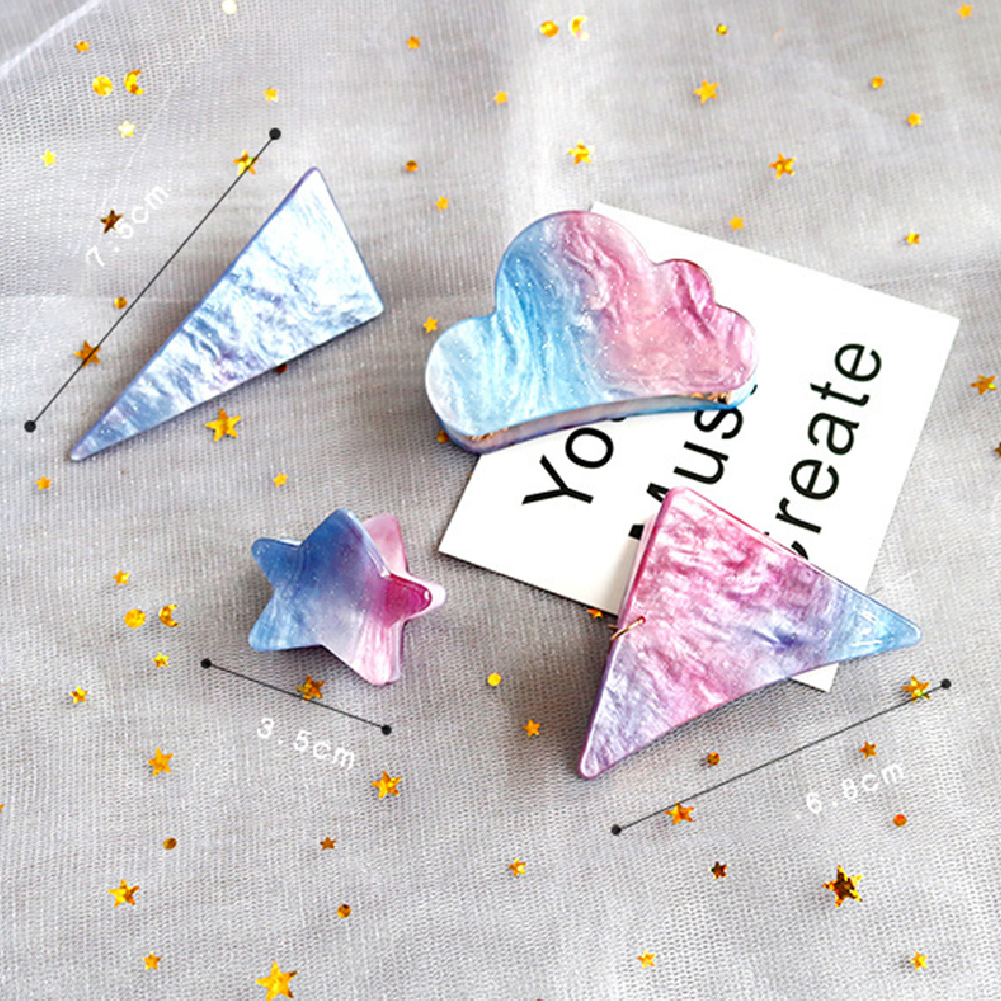 13PCS Star Triangle Shape Hair Clips Barrettes Headdress Accessories Beauty Clips Pins Barrette StylingTools Bling HairpinCW31 in Hair Clips Pins from Beauty Health