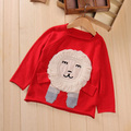 toddler girls boys sweaters christmas baby dave and bella o-neck cartoon lion patchwork long sleeve cardigan children clothes