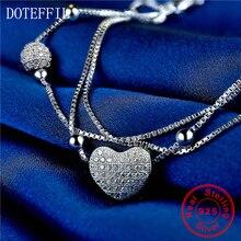 Love 925 Sterling Silver Color Women Charm Bracelet Fashion Heart AAA Zircon Bracelets Brand luxury Feminine Jewelry homod charm heart shape bracelet 65mm cubic zirconia silver color smooth brand bracelets