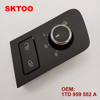 SKTOO Fit For Volkswagen Full Reversing Top A Mirror Knob Rear View Mirror Adjust Knob Safety