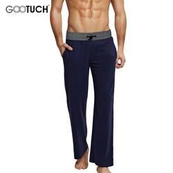 Плюс Размеры сна Для мужчин сна Одежда Хлопок Drawstring Пижамы Брюки Повседневная одежда, Домашняя одежда свободные штаны для дома 4XL 5XL 6XL 5208
