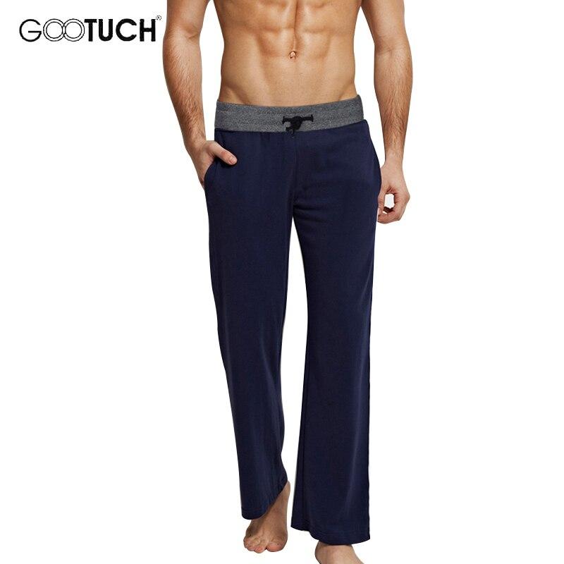 Мужские хлопковые штаны для сна, одежда для сна на шнуровке, пижамные штаны, Повседневная Домашняя одежда, свободные штаны для отдыха, нижне...