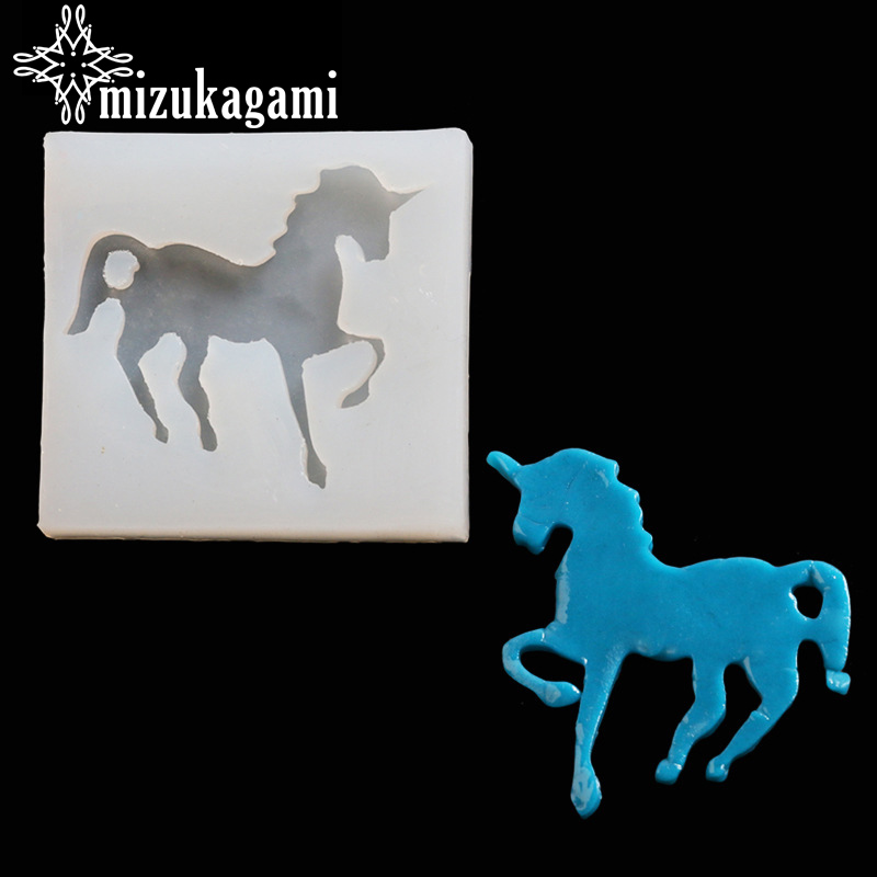 UV Resin Jewelry Liquid Silicone Mold Unicorn Horse Mold Resin Molds For DIY Pendant Charms Making Jewelry