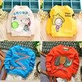 2015 nova primavera & outono de bebê da marca t camisa de algodão camisa de manga comprida t camisa dos desenhos animados t crianças t-shirt 0-2 ano