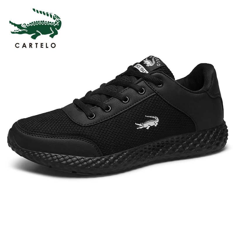 Cartelo Thương Hiệu Giày Vải Nam Thời Trang Cho Nam Giày Nam Giày Đen Giày Thoáng Khí 2019 Nam Giày Zapatillas Hombre