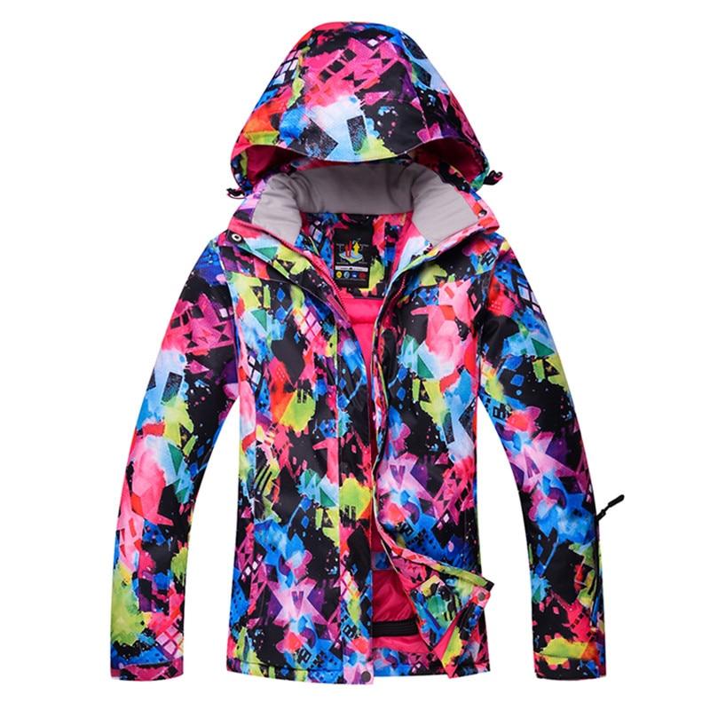 Colorful Winter Ski Jackets women Outdoor Windproof Waterproof Snowboard Jacket Climbing Alpine Ski Clothing moretan гольфы moretan alpine ski merino 1 пара