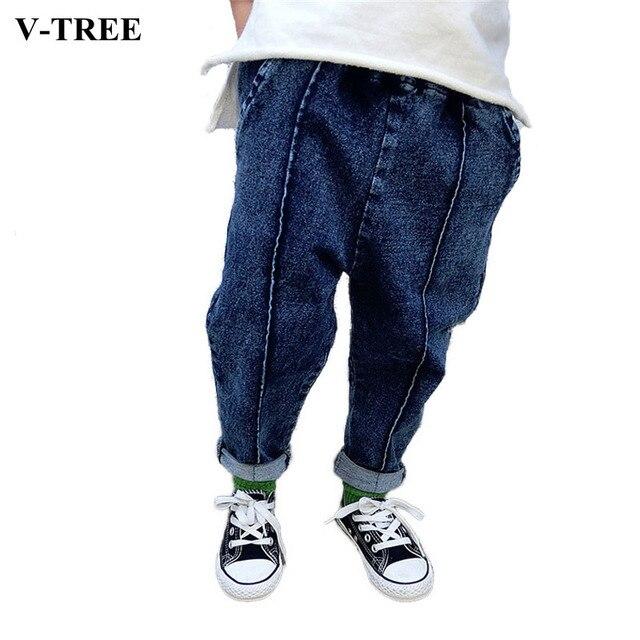 V-TREE Джинсы детские Весенние Дети Шаровары Для Мальчиков И девушки Дети Брюки Джинсы Для 1-5 Лет Мальчиков И Девочек