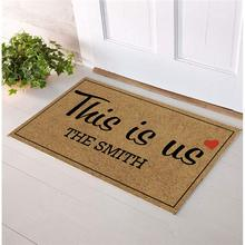Personalized Your Name  funny doormat for entrance door Custom Door mat Monogram Home Welcome Mats This is Us
