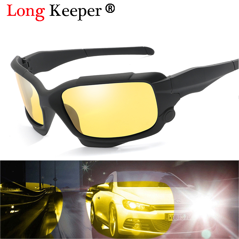 2018 New Night Vision Glasses Anti Glare Glasses For Safety Sunglasses Men Driver Yellow Lens Unisex Goggles Eyeglasses with Box