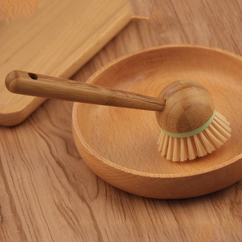 New Bamboo Dish Brush Multifunction Kitchen Cleaning Tools Dish Brush with Bamboo Handle All-Purpose Scrub Dishwasher 5