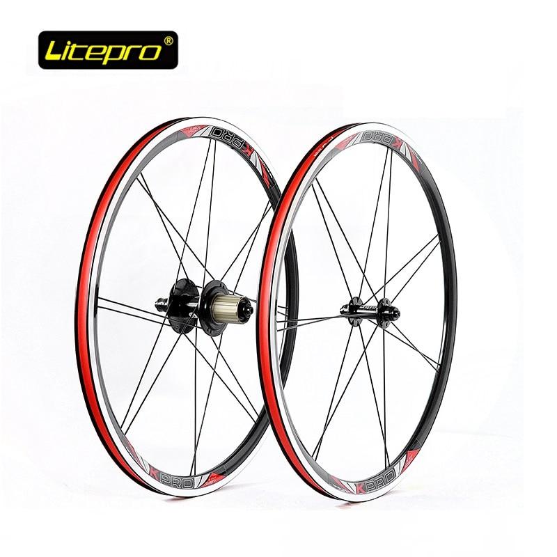 все цены на Bicycle Wheel Set Litepro 20 inch kpro 451 Bike Wheel Set Front 74mm/130mm Rear 100mm/135mm Folding Bike Road Bicycle Parts