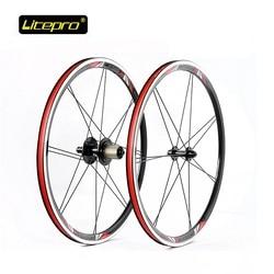 Koło rowerowe zestaw Litepro 20 cal kpro 451 rower zestaw do kół z przodu 74mm/130mm 100mm/135mm składany rower rower szosowy części