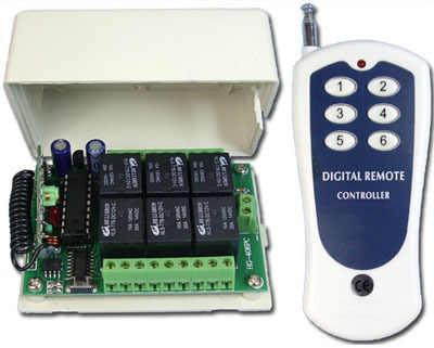 DC12V 10A Canais de RF Wireless Switch Controle Remoto Radio 6 Reaceiver & Transmissor 315 mhz 433 mhz Controle Remoto Fabricante