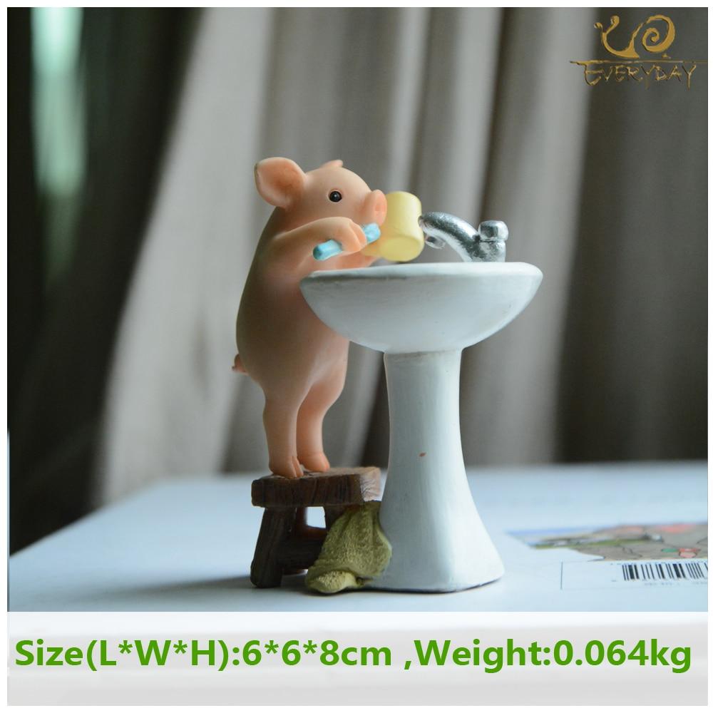 Everyday Collection Cute pig home decoration accessories fairy garden miniature animal figurines car desktop decor birthday gift