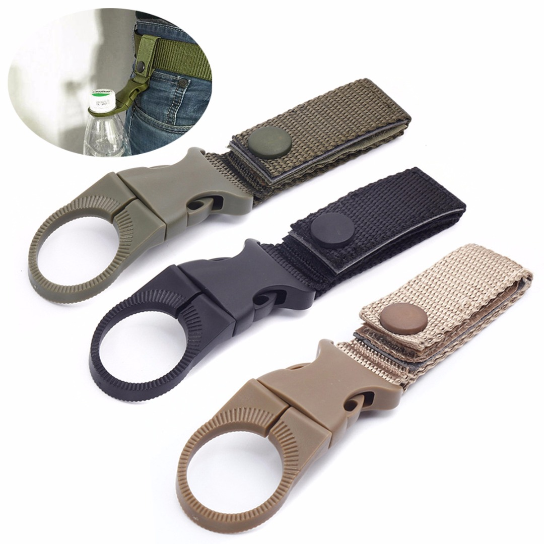 Outdoor Water Bottle Hanging Buckle Hook Holder Belt Clip For Outdoor Camping Hiking Travel Kit Survival Tool
