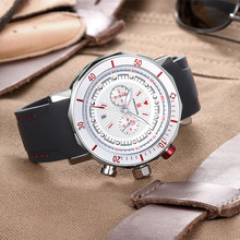 Military Quartz Men's Watch Car Dashboard Leather Strap Water Resistant Business Calendar Chronograph Clock Relogio masculino купить недорого в Москве