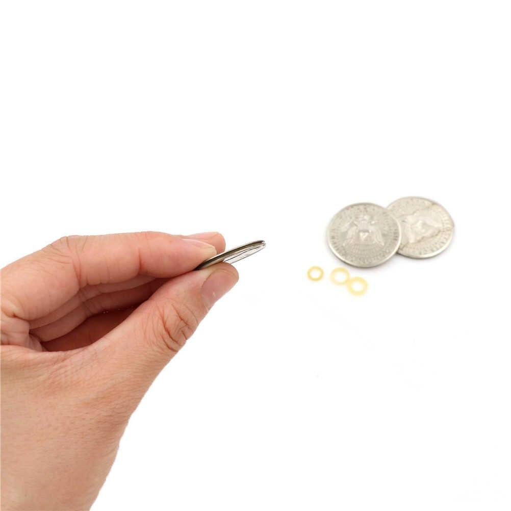 1 шт. волшебный рваные монета для фокусов Иллюзия и восстановления подарок забавные волшебные фокусы игрушка складной укус Монеты монета долларовая версия