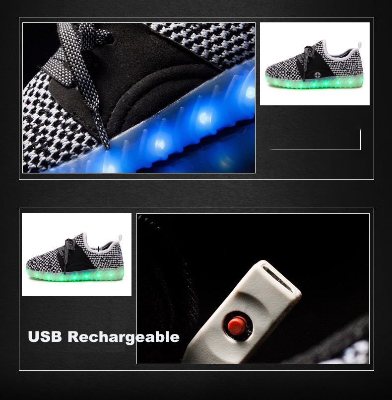 Led Sneakers YZY v2 Kids 2