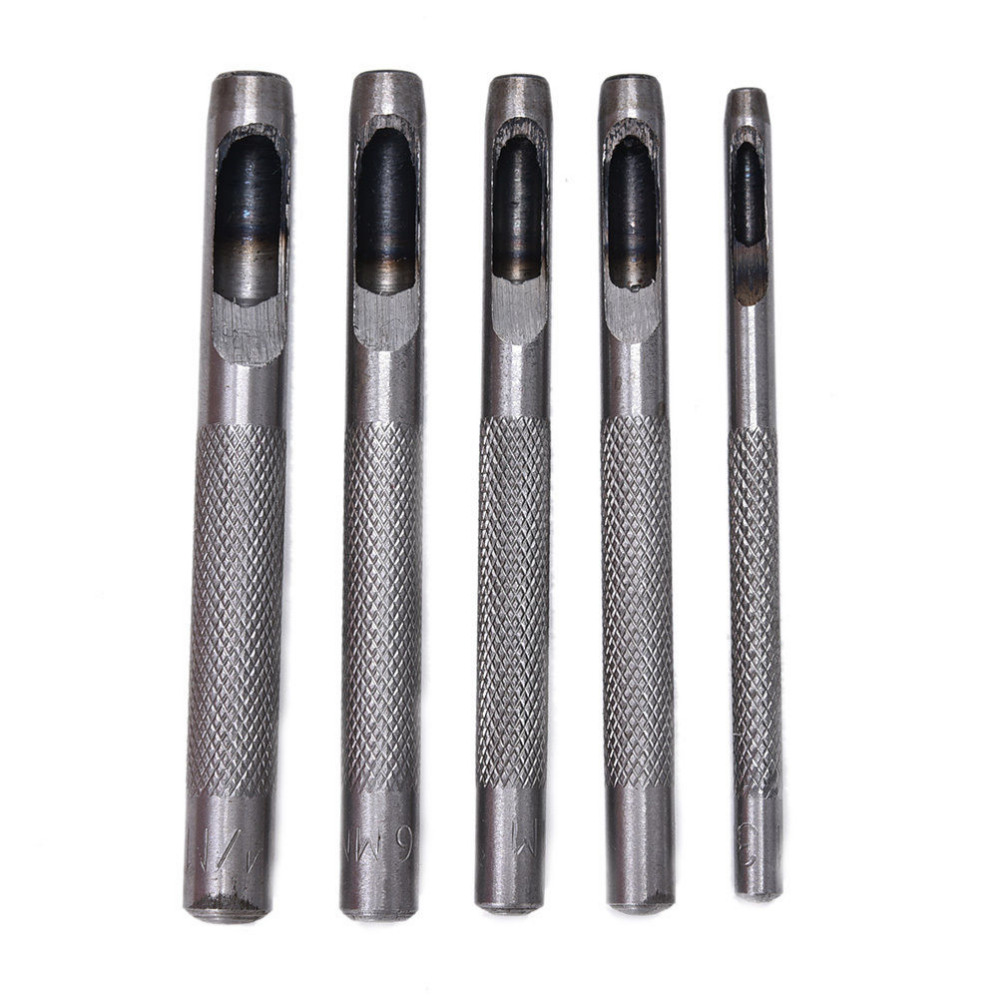 1/5 Pcs Leather Belt Gasket Hollow Hole Punch/ Cutter Tool