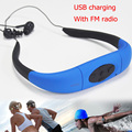 3.8GB underwater waterproof MP3 Player with FM radio head wearing music Players for Diving&swiming&surfing&sports&running IPX8