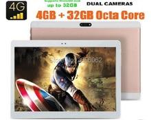 2017 Nueva 10 pulgadas Octa Core Tablet pc 4 GB RAM 64 GB ROM 4G LTE 8 Núcleos Cámaras Duales 8.0MP 1920*1200 IPS GPS WiFi MID tabletas + Regalos