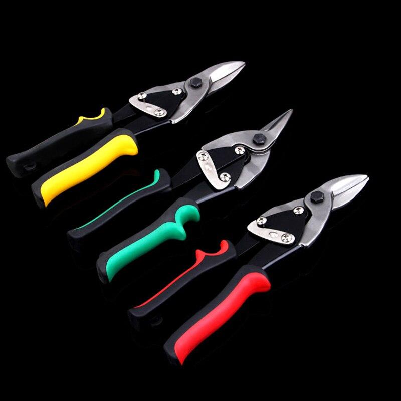 25 Cm/10 zinn Blatt Metall Snip Luftfahrt Scissor Eisen Platte Scher Haushalt Werkzeug Industrie Industrie Arbeit Freies Verschiffen Werkzeuge Schere