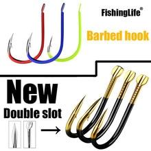 20/50/100/pcs Fishing Hooks Fishing Tackle Durable Fishhooks Carp Barbed Hook Ocean River Lake Size3-15 Bait Lure Catfish Golden