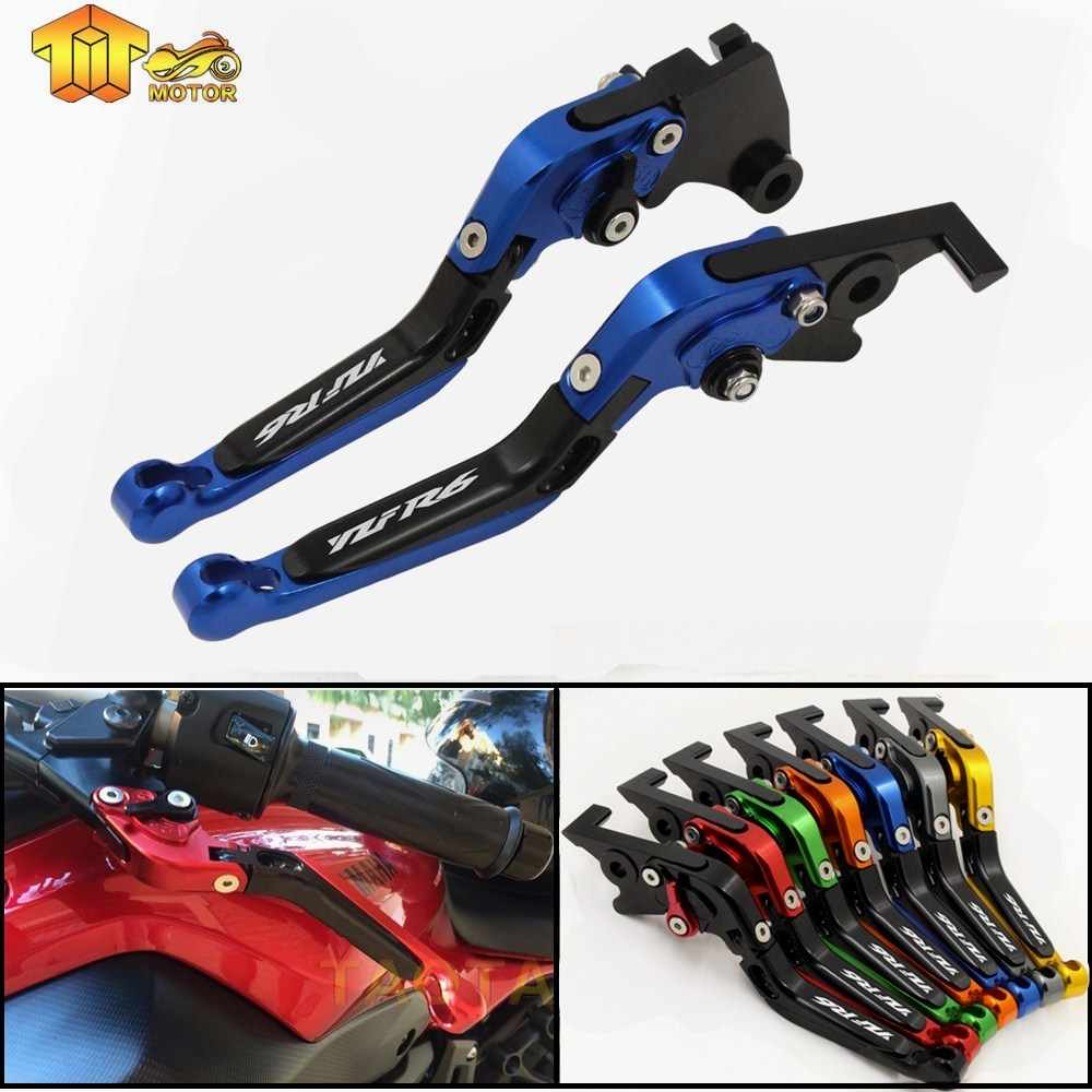 CK CATTLE KING For YAMAHA YZFR6 YZF R6 R6 1999 2000 2001 2002 2003 2004 Motorcycle Accessories Brake Clutch Levers LOGO YZF-R6