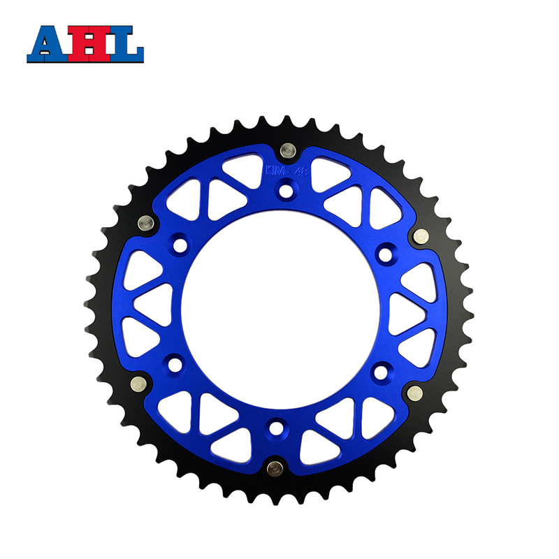 Motorcycle Parts Steel Aluminium Composite <font><b>48T</b></font> Rear <font><b>Sprocket</b></font> For KTM SM660 SM 660 Factory Replica 2002 Fit 520 Chain image