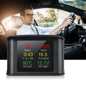 Image 4 - Hud Head Up Display OBD Computer Car Speed Projector Digital Speedometer Display Fuel Consumption Temperature Gauge OBDII Tool