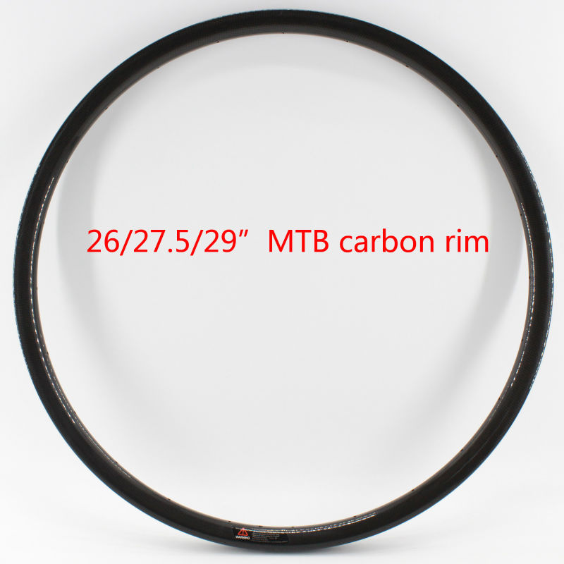 New 26/27.5/29er inch clincher rim mountain bike 3K UD 12K full carbon fibre bicycle wheelset disc rim MTB light parts Free ship