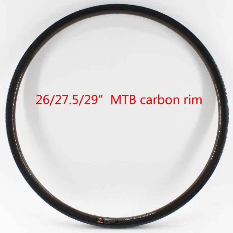 Nouveau 26/27. 5/29er pouces pneu jante VTT 3K UD 12K pleine fibre de carbone vélo roues disque jante vtt pièces légères livraison gratuite