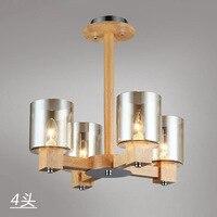 Vintage led G9 4 heads wooden Chinese style pendent lights for dining room/bar/bedroom decor Loft Hanging Lamp Ac90 260v y1026