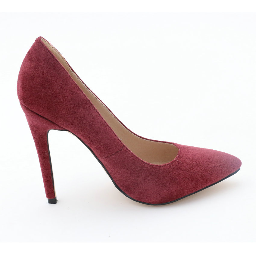 Moda Bombas Alta Sandalias De Mujer Tinto Toe Mujeres negro vino 34 big Red Señaló Rebaño Primavera 2019 Talones Oficina 43 Esveva Superficial Beige Zapatos n0WxwEqzSF