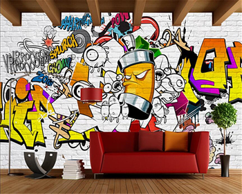Beibehang Custom wall wallpaper European and American trend street graffiti bar KTV backdrop living room bedroom mural wallpaper custom 3d mural 3d stereo personality ktv bar background wall mural wallpaper graffiti music symbol mural for ktv bar