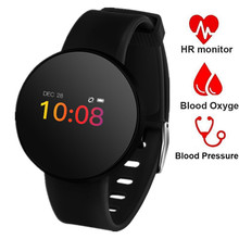 цена на Heart Rate Monitor Smart Watch Women Men OLED Touch Waterproof Smart Wrist Band Fitness Blood Pressure Pedometer Sports Watches