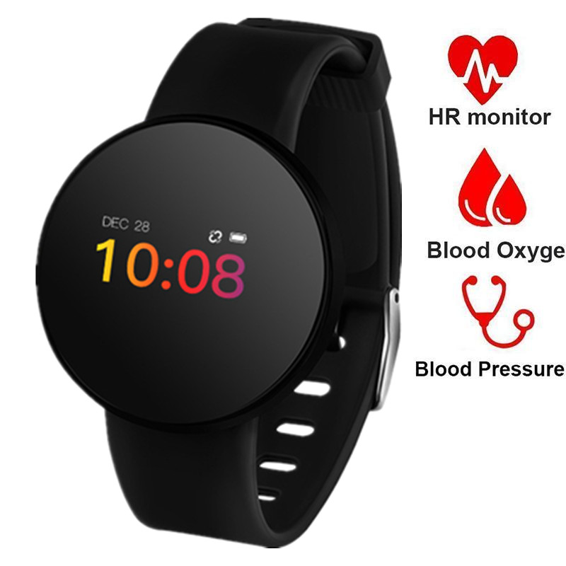 Heart Rate Monitor Smart Watch Women Men OLED Touch Waterproof Smart Wrist Band Fitness Blood Pressure Pedometer Sports Watches