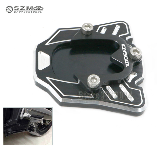 For HONDA CB 500X CB500X CB500 2013-2018 2017 2016 Motorcycle CNC Side Kickstand Stand Extension Support Plate With Logo