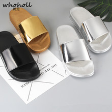 WHOHOLL Men Slippers 2019 Summer Mens Shoes Casual Breathable Beach Sandals Black White Flip Flops Slides Flat