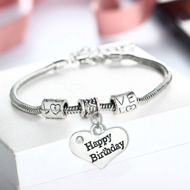 adjustable products other numbers happy bracelet available charm bangle birthday gift expandable